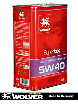 Масло -WOLVER- 5W40- Supertec -4л.